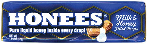 Ambrosoli Honees Milk & Honey Filled Drops, 1.50-Ounces Bars (Pack of 24)