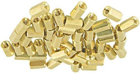 Yohii 100 Pcs Metal Hex M3 Female Screw Brass Screw PCB Standoff Spacers 10mm//0.39 Inch Body