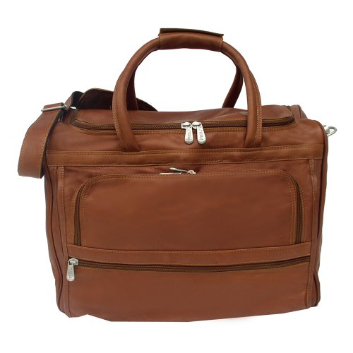 Piel Leather Computer Carry-All Bag, Saddle, One Size by Piel Leather