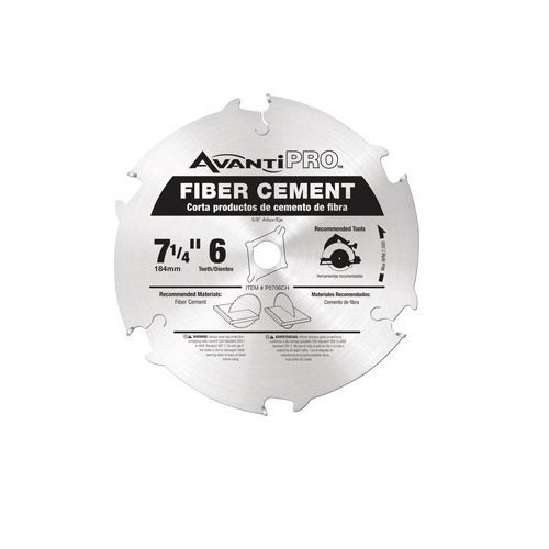 AvantiPro P0706CH 7-1/4-inch 6T Fiber Cement 5/8-inch Arbor Saw Blades, 3-Pack by Freud