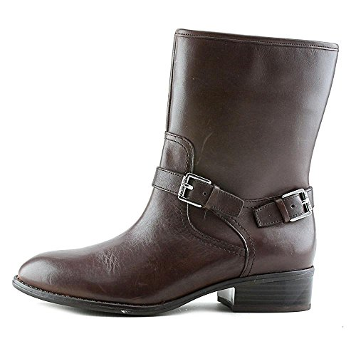 Ralph Lauren Mujeres Mesi Leather Almond Toe Botas De Tobillo Marrón Oscuro Burnished Calf
