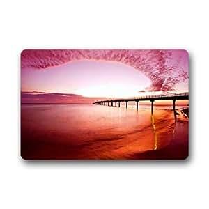 """Custom pink sand beach Doormat Outdoor Indoor 23.6""""x15.7"""" about 59.9cmx39.8cm"""