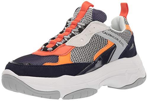 - CK Jeans Men's MARVIN Shoe, Navy/Light Grey/Orange Nylon Suede, 7   M M US