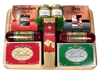 Christmas Gift Baskets For Him.Amazon Com The All Time Favorite Meat And Cheese Gift