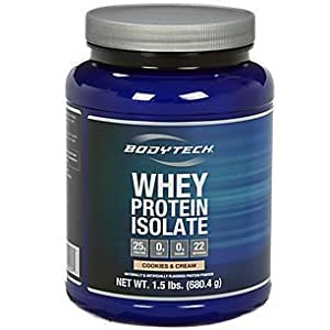 Whey protein isolate cookies and cream