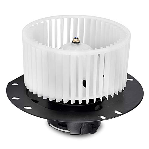 FAERSI HVAC Plastic Heater Front Blower Motor with Fan Cage Replacement fit for 1997-2014 Ford E-150/1997-2014 E-250/1997-2016 E-350/2000-2014/E-450 Van Front ()