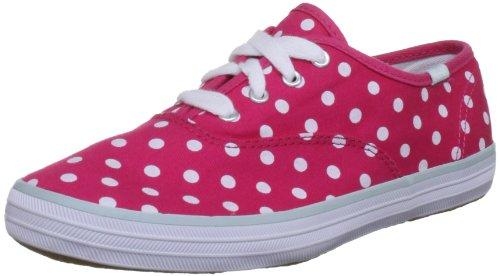 Zapatillas Lona Costuras Azul 28 Rosa / Blanco