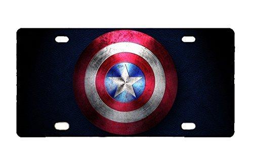 License Plate Captain America Custom Metal for -
