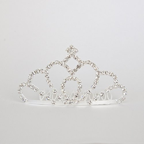 [Princess Annie Diamond Tiara w Comb - Small - Frozen Winter Collection - Toddler & Girl] (Toddler Annie Costumes)
