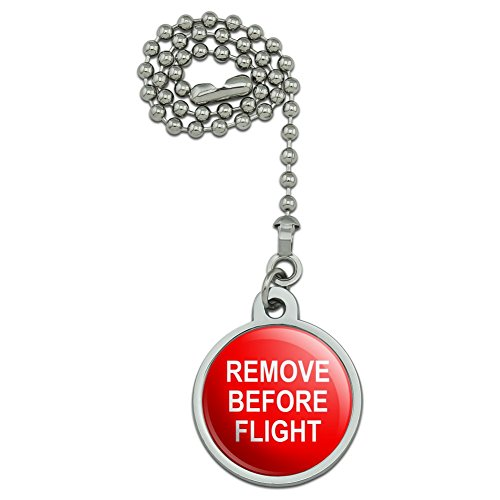 GRAPHICS & MORE Remove Before Flight Airplane Warning Ceiling Fan and Light Pull Chain
