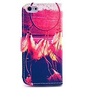 Colorful Dream Catcher Pattern Full Body Case with Stand and Card Slot for iPhone 5C