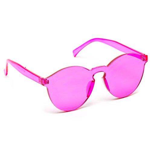 ba9c5058505 WearMe Pro - Colorful Transparent Round Super Retro Sunglasses ...
