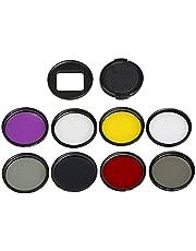JIXIAO Accesorio for cámara de acción deportiva GoPro HERO5 Proffesional 52 mm Filtro de lente (CPL + UV + ND8 + ND2 + Estrella 8 + Rojo + Amarillo + FLD / Púrpura) y carcasa impermeable Anillo adapta
