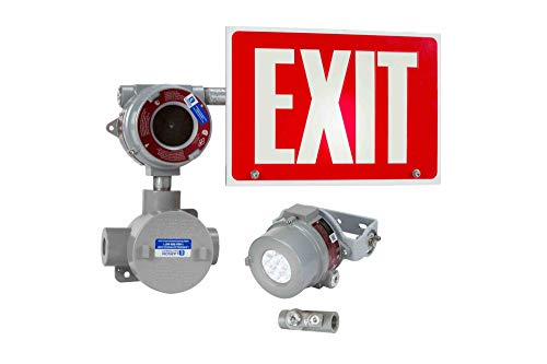 Explosion Proof Exit Signs - Explosion Proof Exit Sign - Class I Div 1&2 - IP65-120V/277VAC - Emergency Battery - Remote Head