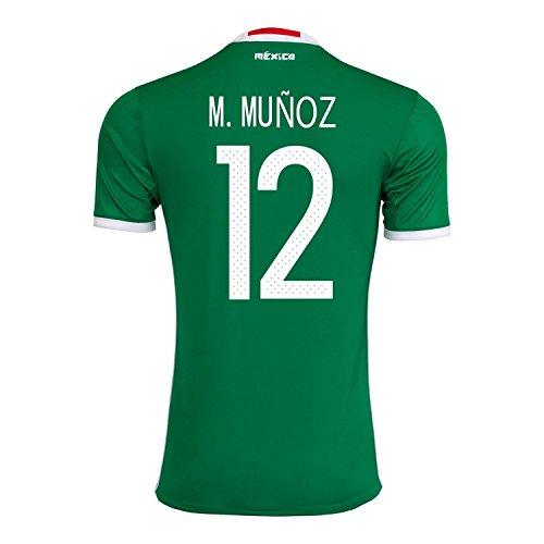 司書シャープ音楽M. Muñoz #12 Mexico Home Jersey Copa America Centenario 2016 / サッカーユニフォーム メキシコ ホーム用