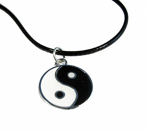 Yin Yang Pendant Leather Necklace Festival Lucky Protection