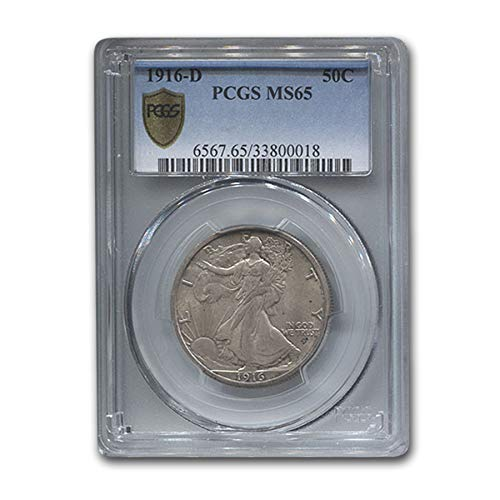 1916 D Walking Liberty Half Dollar MS-65 PCGS Half Dollar MS-65 PCGS