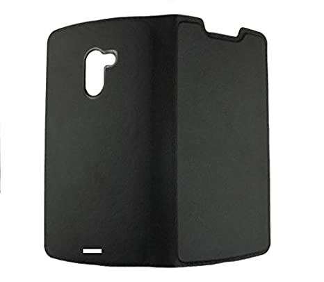 competitive price 6b1cf 632e8 COVERNEW Leather Flip Cover for Infinix Hot 4 Pro - Black