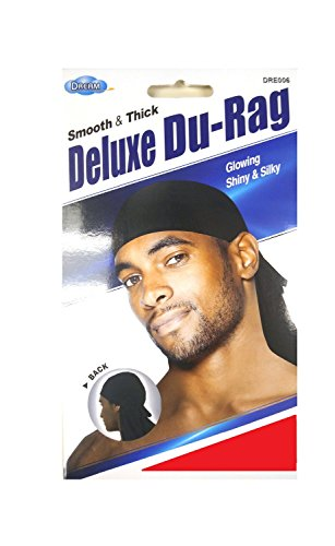Dream Deluxe Du-Rag Red - Smooth & Thick, Superior Quality, Stretchable, Wrinkle Free, 100% Polyester