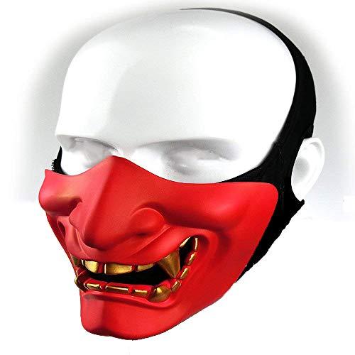 Supspy Samurai Airsoft Mask Tactical Prajna Half Face