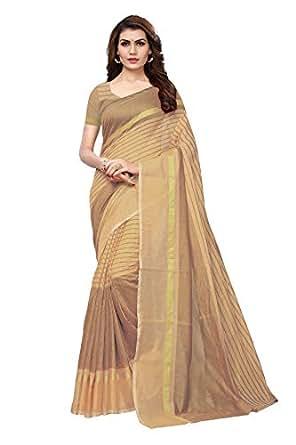 Indira Designer cotton with blouse piece Saree (SP-AGEOHC3BZIF1EKNS Beige Free Size