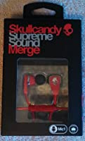 Skullcandy Merge Earbud Headphones for Phones - Retail Packaging - Red/Chrome