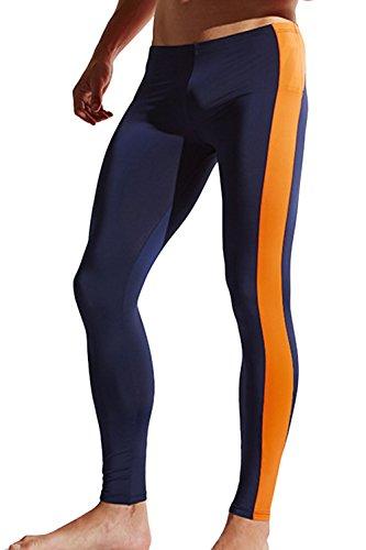 [해외]Sandbank 남성용 베이스 레이어 레깅스 타이트 스포츠 러닝 조깅 피트니스 트랙 팬츠 / sandbank Mens Base Layer Legging Tight Sport Running Jogging Fitness Track Pants (US L, Sapphire #4)
