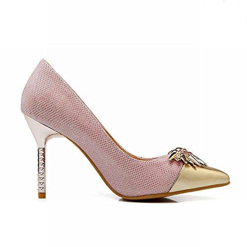 de punta en Rosa tacón Womens los alto zapatos Sexy en Mee brilla vestir Shoes xw1qF6z6