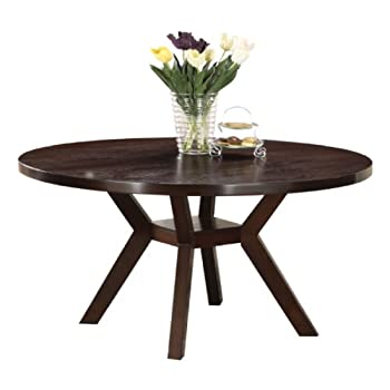 Acme 16250 Drake Espresso Round Dining Table, 48-Inch