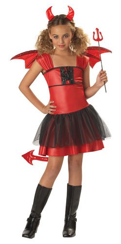 Red Devil Child Costume Size Large