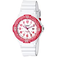 Casio Sports - Reloj analógico de 3 manos, con esfera blanca, para mujeres # LRW200H-4BV