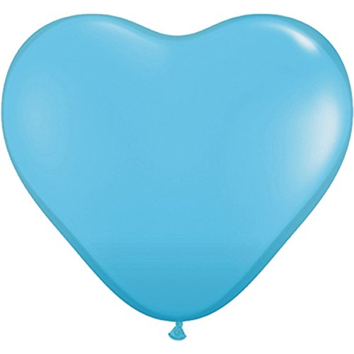Hellblau partydiscount24 1000 x Herzballons Ø 25 cm   Freie Farbauswahl   11 Herzluftballon Farben (Hellblau)