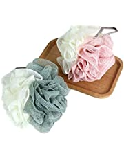 Loofah Shower & Bath Exfoliating Sponge Pouf - Multi-Colored His & Hers Pack of 2