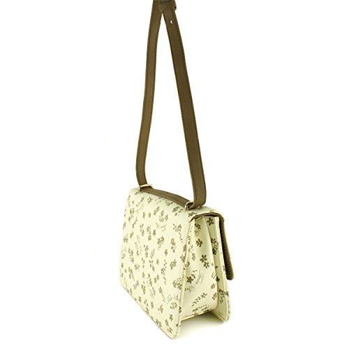 TWIN SET FIRMATO SOTTOCOSTO mod. A7S4C6 borsa donna a spalla stile CARTELLA con TRACOLLA colore beige/tortora 23x20x10cm