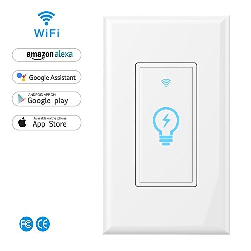 Wi fi smart wall light switchtouchvoice and remote control lights wi fi smart wall light switchtouchvoice and remote control lights and appliances timing function compatible with alexa and google assistantno hub aloadofball Images
