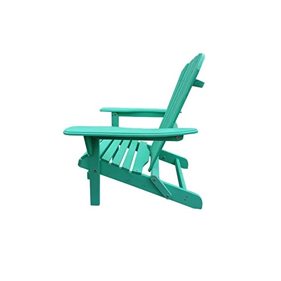 Carbelle Villaret Adirondack Chair (Green) - Solid Fir Wood All Weather Chair Repels Water and Moisture Natural finish adds a classic outdoor style to your patio or backyard setting - patio-furniture, patio-chairs, patio - 41Z8h6DfjVL. SS570  -
