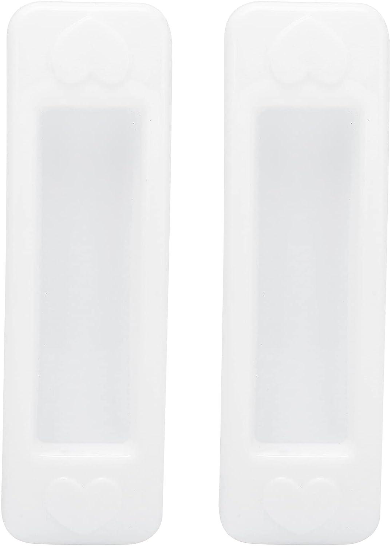 Hyuduo Juego de manijas de Puerta de 2 Piezas, manija de Puerta corrediza de Vidrio de plástico Blanco, manija de plástico para Puerta con cajón y Ventana