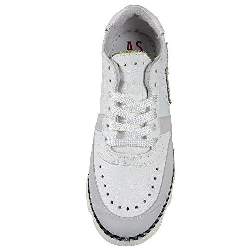 A.S.98 Sneaker - Leicht, Sommerlich - in Weiß as-970112-0104 Weiß