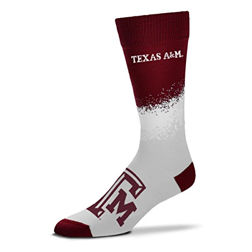 (For Bare Feet NCAA Marquee Crew Socks- Size -Large(10-13)-Texas A&M Aggies)