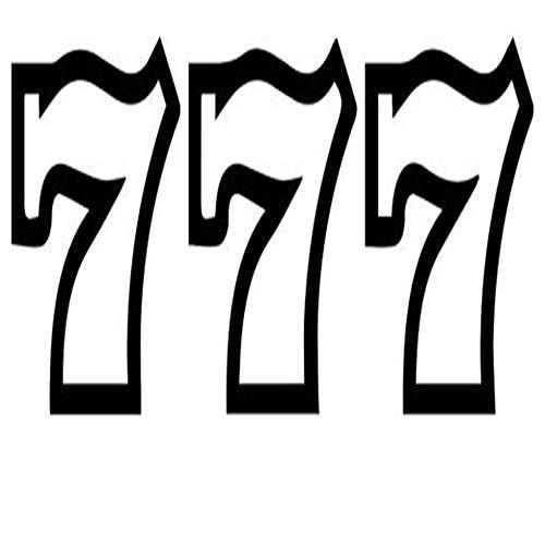 777 Casino Slot Bandits - Peel and Stick Sticker Graphic - Auto, Wall, Laptop, Cell, Truck Sticker for Windows, Cars, Trucks
