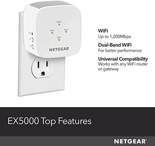 NETGEAR WiFi Range Extender EX5000 - Coverage as much as 1500 Sq.Ft. and 25 Devices