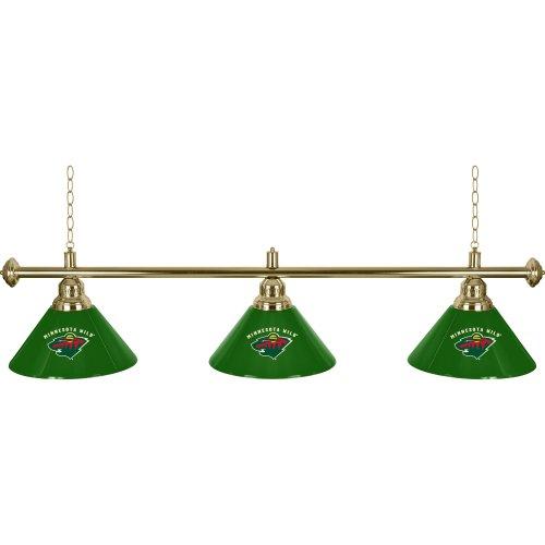 NHL Minnesota Wild Three Shade Gameroom Lamp, - Nhl Minnesota Wild Lamp