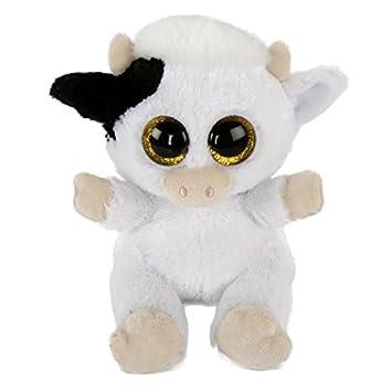 La hugsters – Peluche/Peluche – Vaca Trixie con ojos grandes Abalorios glubsch – #
