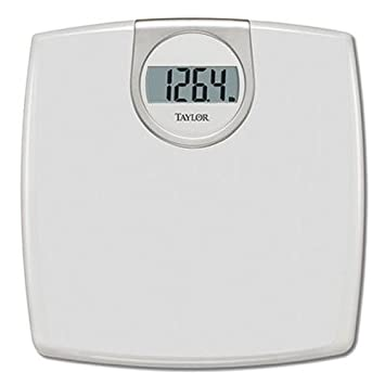 Taylor Precision Products Digital 1.2 Inch LCD Bathroom Scale (White)