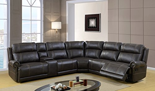 Global Furniture USA Island Classic Reclining Sectional (Island Sectional)