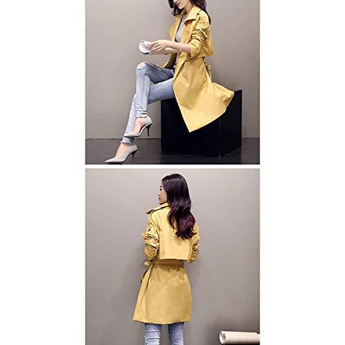 Windbreaker Inclusa Lunga Vintage Confortevole Laterali Winered Coat Cintura Trench Monocromo Invernali Bavero Donna Tasche Adelina Manica Cappotto PH5UxCqw5