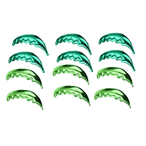 SM SunniMix 12pcs/Pack Palm Tree Leaves Shape Summer Beach Party Foil Balloon Birthday Party Toys Decorations -