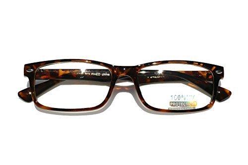 Casual Fashion Horned Rim Rectangular Frame Clear Lens Eye Glasses - Tortoise Rim Glasses