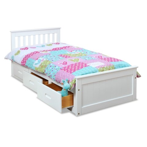 Pine Twin Size Bed - 4