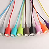 ANDP E27 9.5CM line 1M creative chrome silicone Rainbow dragon chandelier LED 1PC , green